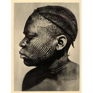 Tattoo Body Art Nigeria Africa   Original Photogravure