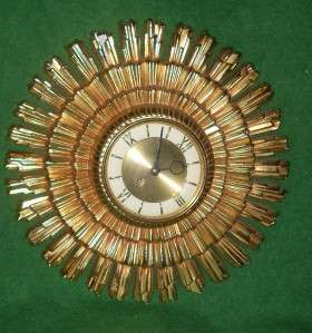 EAMES ERA WELBY SUNBURST WALL CLOCK 8 DAY GERMANY