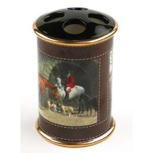 Horse TOOTHBRUSH holder FOXHUNTING bath bathroom decor