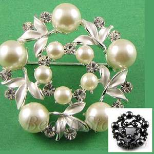 SHIPPING Austrian rhinestone crystal flower brooch pin wedding