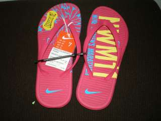 Nike Women Solarsoft Thong Flip Flops Sandals Pink 7 8 New With Tag