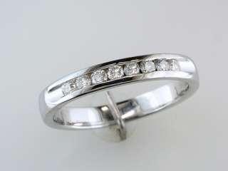 Diamond 14K White Gold Engagement / Wedding / Anniversary Band Ring