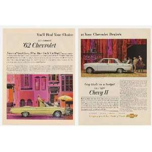 1962 Chevy Impala Convertible & II 300 Sedan 2 Page Print
