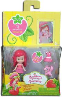 cute strawberry scented strawberry shortcake mini doll with her pink