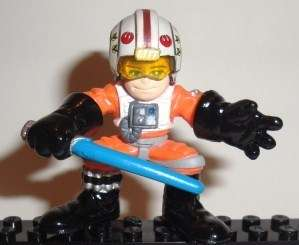 star wars LUKE SKYWALKER galactic heroes REBEL PILOT clone SDCC 2010 x