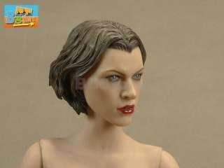 MILLA JOVOVICH HEAD Sculpt Resident Evil Afterlife 1/6 NEW 12