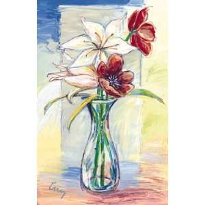 Cruz Vidrios Con Flores I 17 x 27 Poster Print: Home
