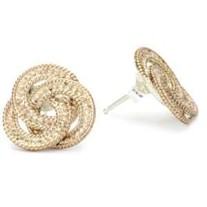 Anna Beck Designs Timor 18k Rose Gold Plated Knot Post Earrings