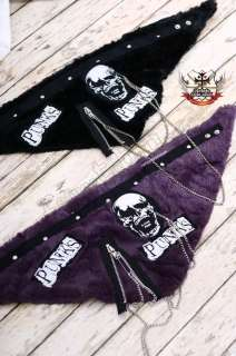 Visual Kei Punk Gothic FUR Neck Wrap/Scarf/Mask PURPLE