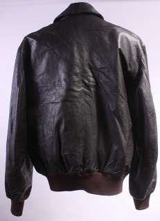 MENS A2/FLIGHT LL BEAN SOFT LEATHER COAT/JACKET sz 44