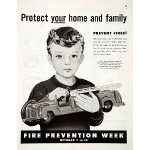 1951 Ad Public Service Message Fire Prevention Week