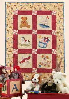 Vintage Toybox Baby Quilt Pattern Shabby Fabrics Applique