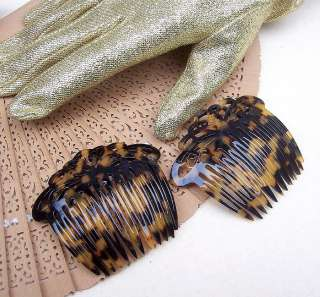 OF TWO FRANCE LUXE FAUX TORTOISESHELL (TOKYO) SIDE HAIR COMBS, 1990s