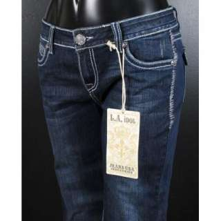 NWT Womens LA IDOL Jeans HEAVILY CRYSTALED FLEURS 1181LP