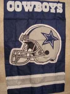Dallas Cowboys NFL Football Banner Flag NEW 44 x 28 Nylon