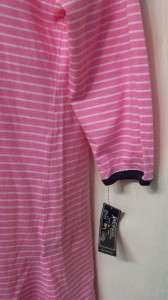 American Living $36 pink & white stripe night gown shirt XL