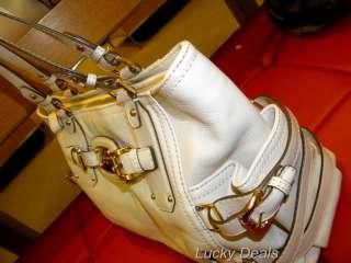 KORS GANSEVOORT SATCHEL Large Leather HANDBAG BAG VANILLA