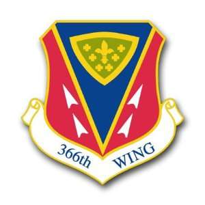 US Air Force 366th Wing Decal Sticker 5.5 Everything