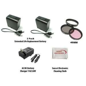 com 2 Pack Of Li Ion Extended Life Replacement Battery Packs for JVC