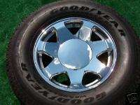 Plain SMOOTH Chrome Cadillac Escalade Wheel CENTER CAPS