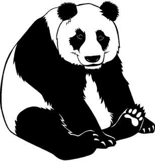 Panda Large Vinyl Decal Car Truck Window Sticker