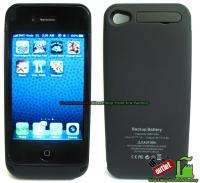 External Battery Backup Charger Power Pack Case Cover for iPhone 4 4S