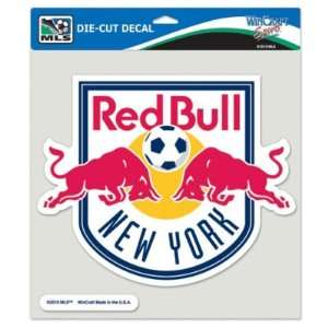 NEW YORK RED BULLS OFFICIAL LOGO 8x8 COLOR DIE CUT DECAL