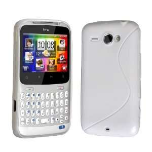 Brand New HTC ChaCha White S Line Silicone Gel Wave Case