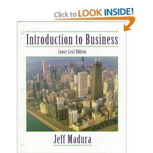 to Business: Jeff Madura: 9780538878845:  Books