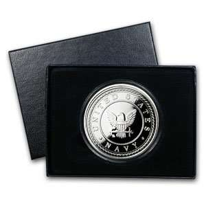 1 oz U.S. Navy Silver Round (w/Gift Box & Capsule