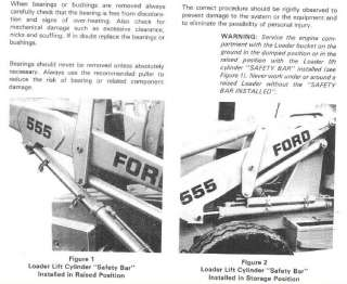 Ford Tractor Backhoe Loader 550 555 Shop Service Manuals Parts Catalog