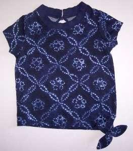 Girls RALPH LAUREN Flora Tie Dye Short Sleeve Top Shirt NWT