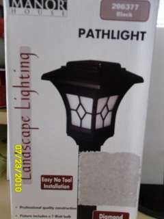 Manor House Black Art Deco Landscape Pathlight #296377