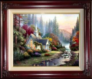 24x30 S/N Limited Edition Thomas Kinkade Canvas Paintings Art
