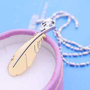 Korean Fashion DBSK TVXQ Style 2 tone Feather Necklace