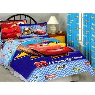 Disney Pixar Cars Comforter Twin bed in a bag with drapes