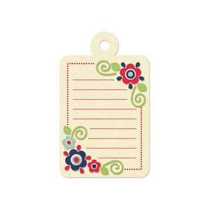 Embossed Tags   Red Dot Flowers Journaling Tag Arts, Crafts & Sewing