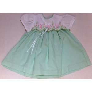 Baby Girl 12 Months, Green Frock Party Dress: Everything Else
