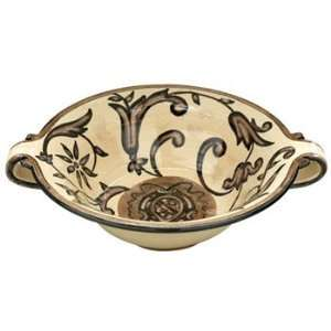 Vietri Balducci Large Handled Serving Bowl:  Kitchen