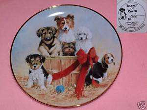 ASPCA Dog PLATE Franklin Mint LTD ED # Signed J KILLEN