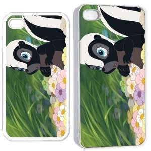 bamby flower skunk iPhone Hard Case 4s White Cell Phones