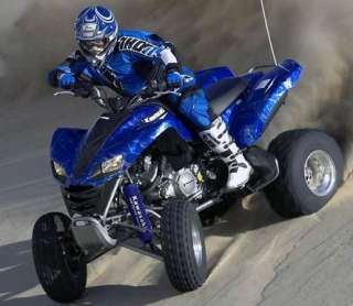 BLUE Shock Covers Kawasaki RACING KFX 700 KFX700 ATV