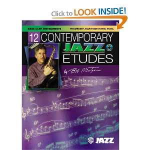 12 Contemporary Jazz Etudes Bass Clef Instruments