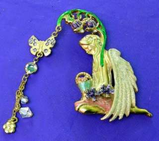 New Signed KIRKS FOLLY Garden Fairy Pin Brooch