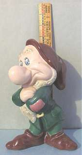 1940s Vintage Pottery Walt DISNEY Snow Whites GRUMPY Dwarf 9 Figure