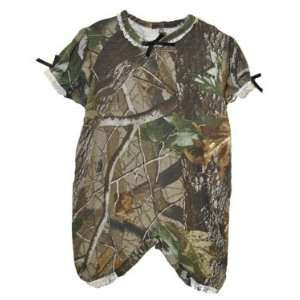 Girls Realtree Hardwoods Green Camo Short Romper: Sports & Outdoors