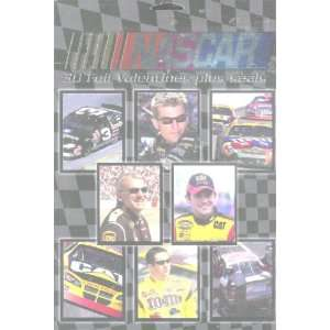 Box of 30 NASCAR Drivers and Cars Foil Valentine Cards