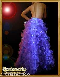 CHARISMATICO TAILOR PURPLE Transvestite Organza cabaret Drag queen