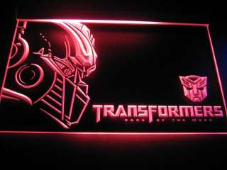 Transformer Autobot Logo Beer Bar Light Sign Neon TF011