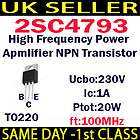 High Frequency/HF/R​F NPN Amplifier Transistor Complementary 2SA1837